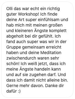 Stimme zu Angst Workshop 1